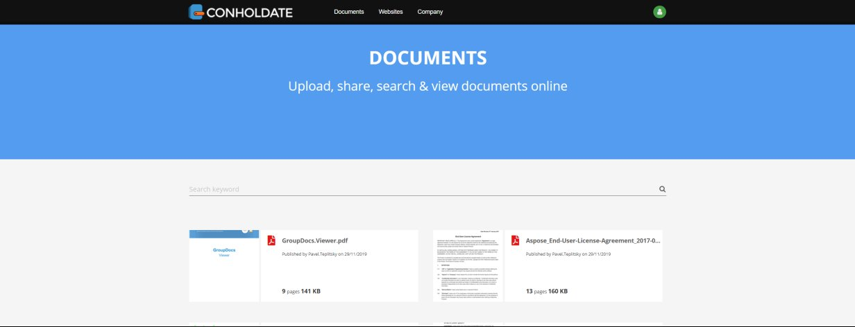 Full-text search documents online